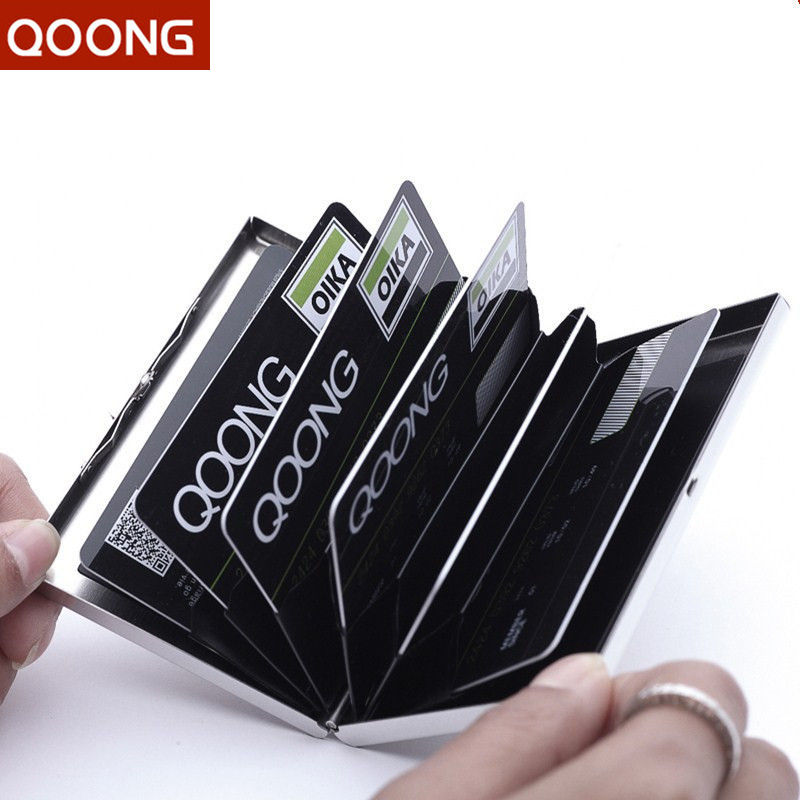 Stainless Steel RFID Blocking Credit Card Holder Wallet ID Card Case Protect Your Bank Debit, ID Cards Metal Travel Card Wallet
