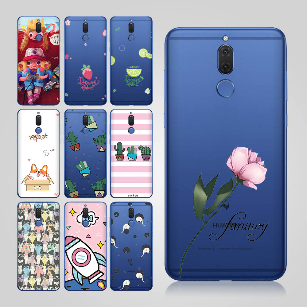 flower texture case for coque huawei mate 10 lite case p smart p9 lite girl for case huawei p8