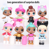 8Pcs Set 9CM High Quality LOL Dolls Balls Baby Surprise Funny Fashion Doll PVC Toy Action