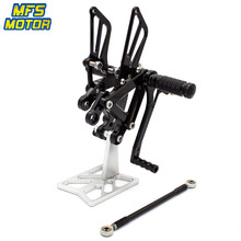 цена на CNC Adjustable Rearset For Kawasaki Ninja ZX6R ZX636 2003 2004 Foot Rest Foot Pegs ZX 6R 636 Foot Rests