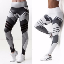 Women Yoga Pants Full Length Polyester Acrylic Sport Wear Tights Gym Leggings Fitness Running Sportswear High Elastic Sexy Pants