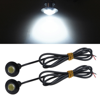 цена на Hot 2 pcs New 12V 23mm Universal Ultra Thin Car LED DRL Daytime Running Light Eagle Eye Lamp Light for Car-styling
