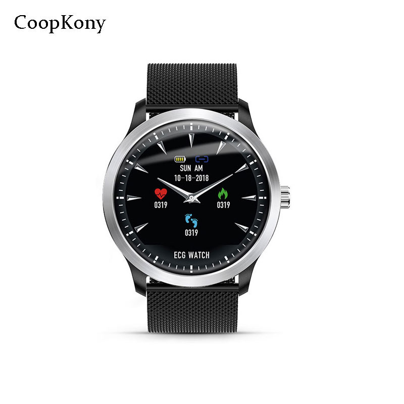 Coopkony ECG Sport Smart Watch Sleep Heart Rate Monitor Professional IP67 Waterproof Call Reminder Fitness Tracker SmartWatch fitband f4 smart brace sport монитор сердечного ритма спортивный шаг heart rate sleep monitor incoming call alert rose gold