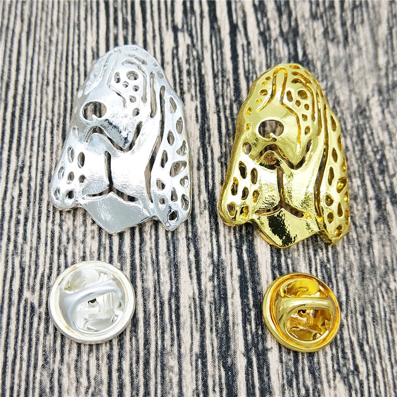 dropship fashion Basset Hound dog Broches and pins Collar Pin animal Jewelery Clothing Accessories Men's Gift gold silver color
