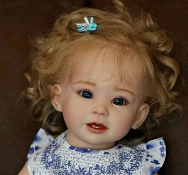 70CM/28 inch Silicone doll kits DIY girl toddler dolls bebe kits reborn unpainted doll reborn accessories