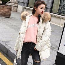 New Women Winter Short Down Coat Fashion Female Big Fur Collar Duck Parka Jacket Thick Warm Elegant Coat Slim Wadded Jacket