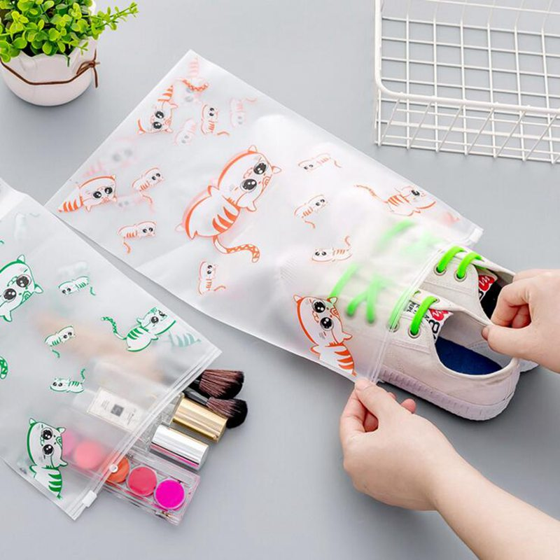 Cute Cartoon Cat Pattern Makeup Bag Storage PVC Portable Cosmetic Bag Women Pouch Toiletry Bag Organizer Case Travel Necessarie