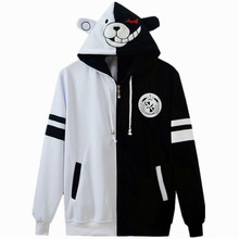 Bear Hooded Hoodies With Ears AnimeTheory of Projectile Broken Danganronpa Cosplay Costume Hooded Sweater Tops Free shipping