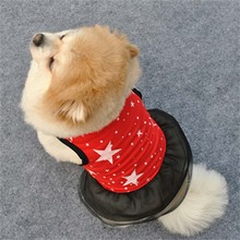 Star Printed Dog Cat Clothes