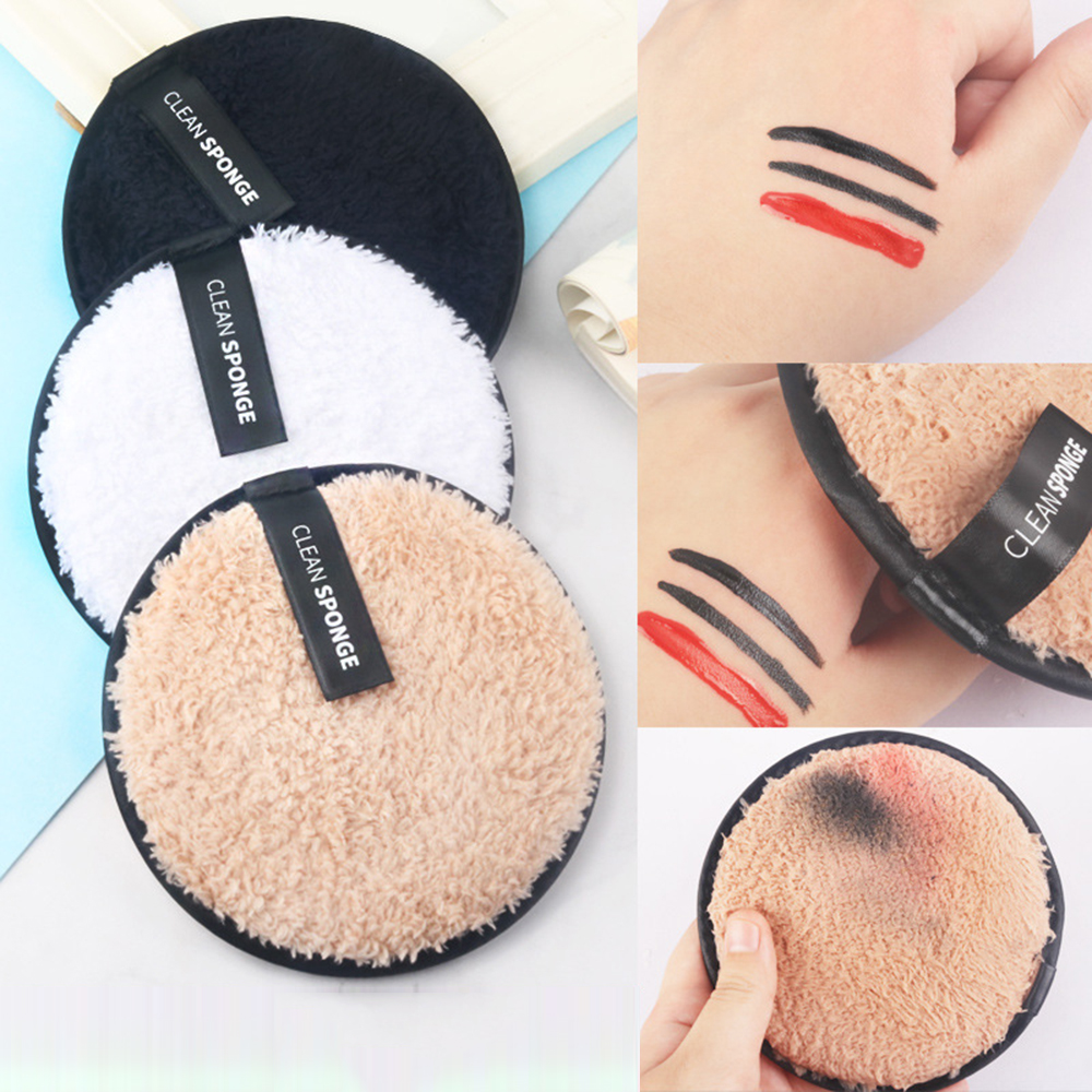 1pc/3pcs Reusable Cotton Pads Make Up Facial Remover Double Layer Wipe Pads Nail Art Cleaning Pads Washable With Laundry Bag
