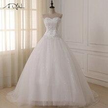 Adln Свадебные платья vestidos de Novia с плеча Милая Тюль длинное платье невесты Кружево вверх обратно плюс Размеры