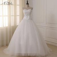 ADLN Wedding Dresses Vestidos de Novia Off the Shoulder Sweetheart Tulle Long Bride Dress Lace Up Back Plus Size In Stock
