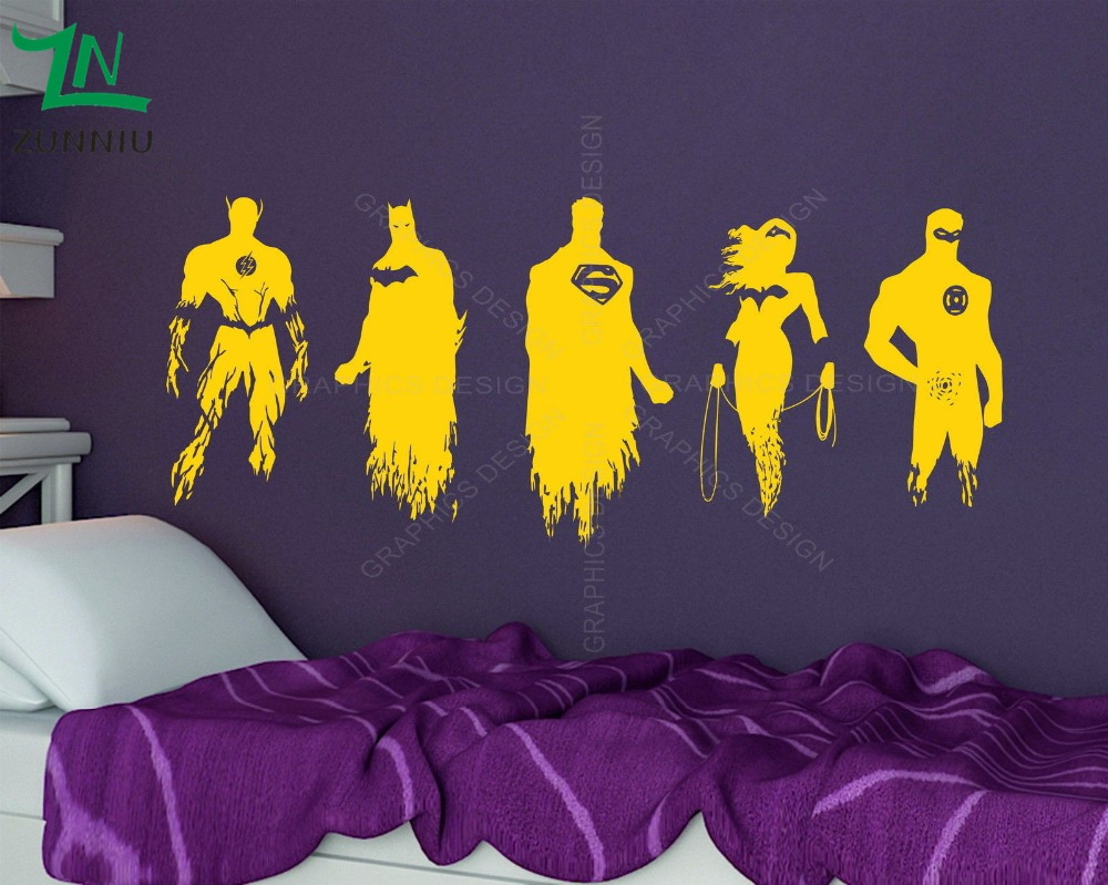 Justice League Superhero Hero Batman Superman Wall Art Sticker