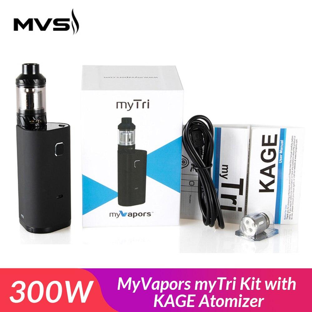 Original MyVapors myTri Kit 300W with KAGE Atomizer Support  VW/TC-NI/TC-TI/TC-SS/TCR Mode Vpae Kit electronic cigarette