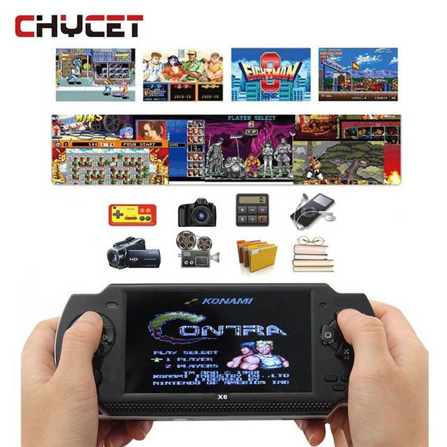 X6 Portable Handheld Game Players 8G 4.3 inch MP4 Video Game Console TV Out Game Player Support For Camera Video E-book Game