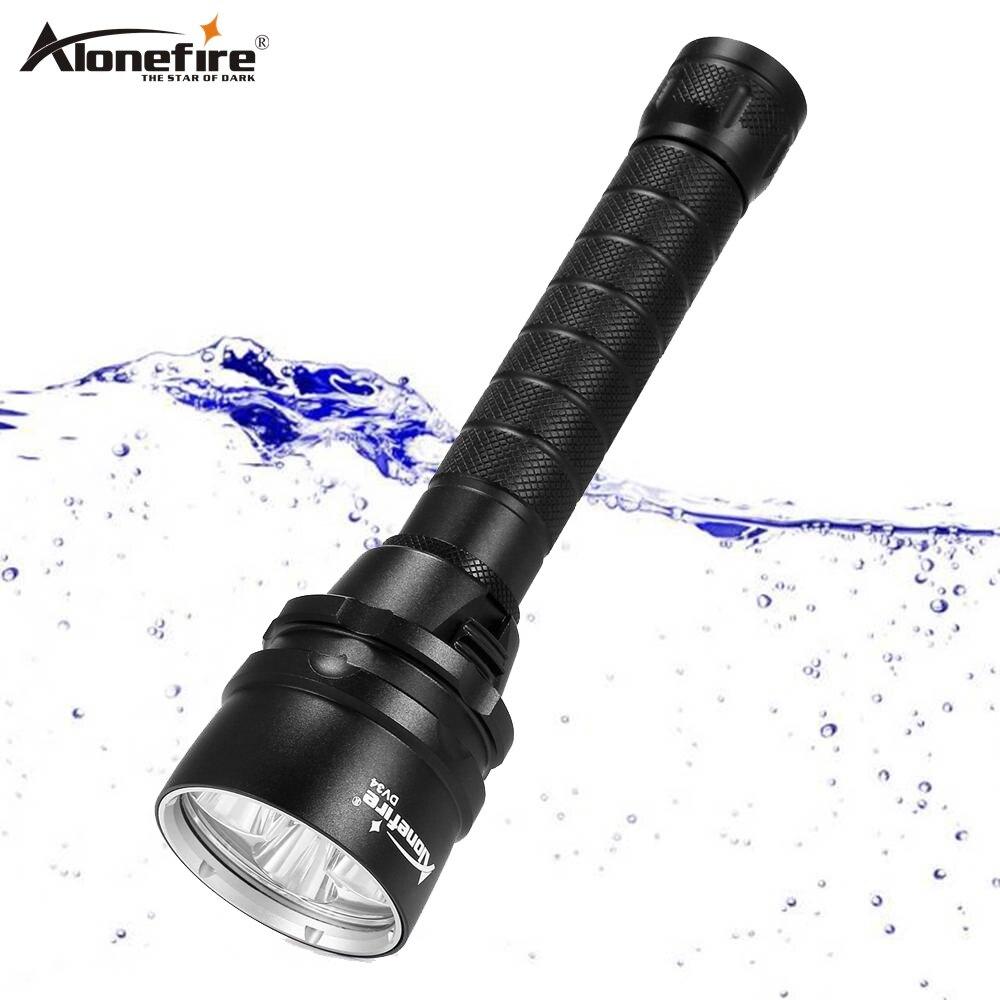 AloneFire DV34 ダイビング懐中電灯トーチ 5x ダイビング XML L2 LED 防水水中スキューバダイビングダイバー linternas 光ランプ  グループ上の ライト & 照明 からの LED フラッシュライト の中 1