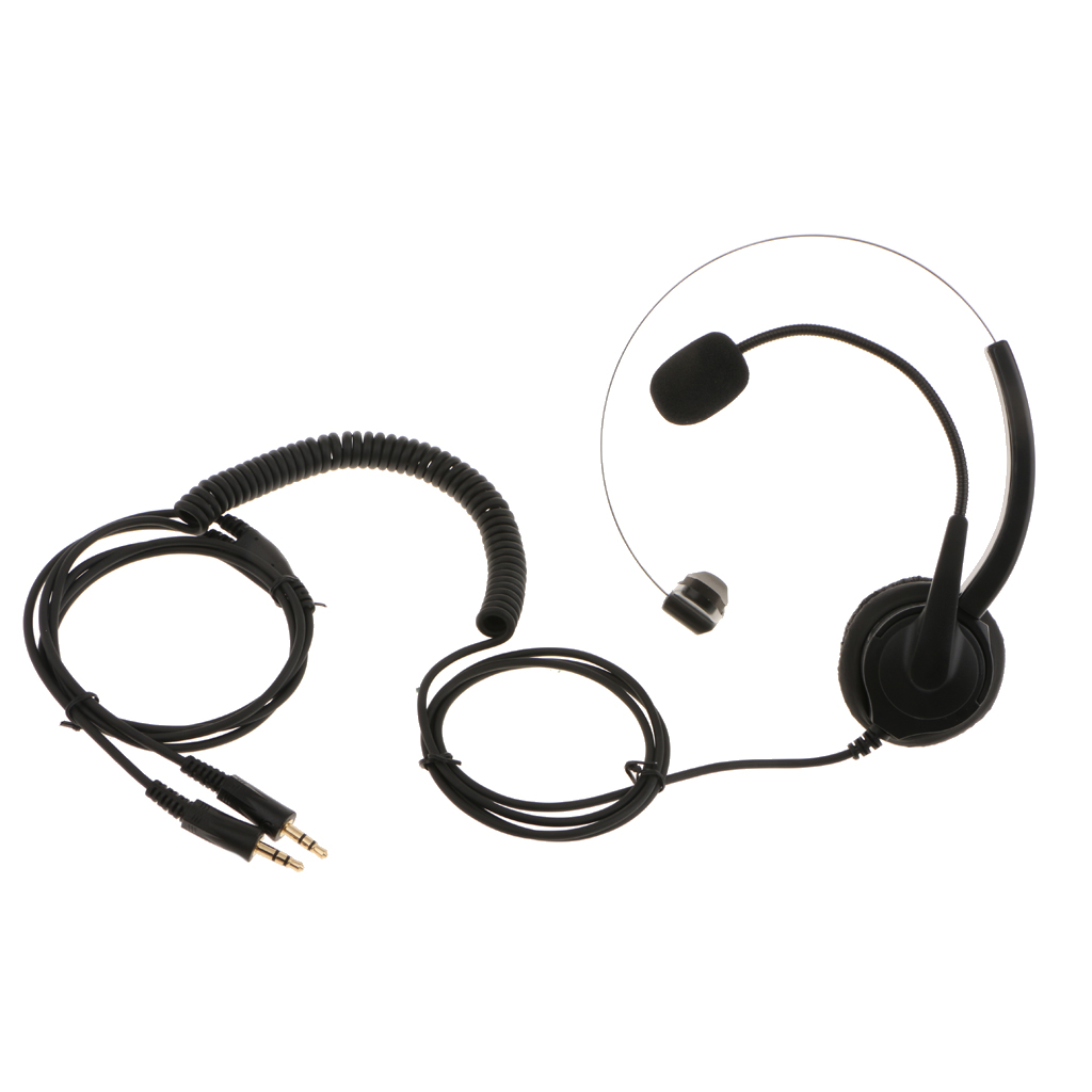 Over Head Call Center Telephone Headset Adjustable with Mic Noise Cancelling ...