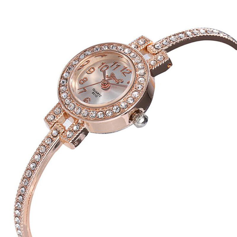 Best Selling High-end Atmosphere Full Diamond Round Shell Alloy Set Fine Strap Ladies Bracelet Watch  Reloj Hombre Rhinestone