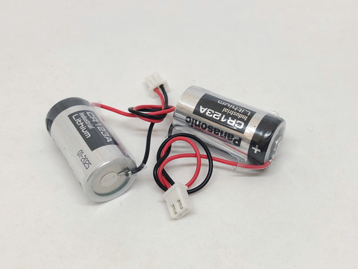 2pcs/lot New Original Panasonic 3V CR123A CR17345 DL123A Battery with plug special water meter, electricity meter and gas meter