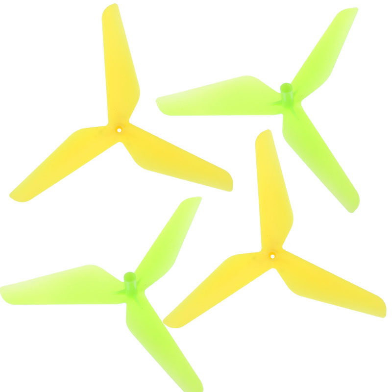 Excellent New 4PC 3 Blade Propeller for Syma X5C JJRC H5C Yellow Green RC Aparts