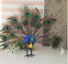 WYZHY simulation peacock model film and television photo props feather table decoration  42cmX50cm