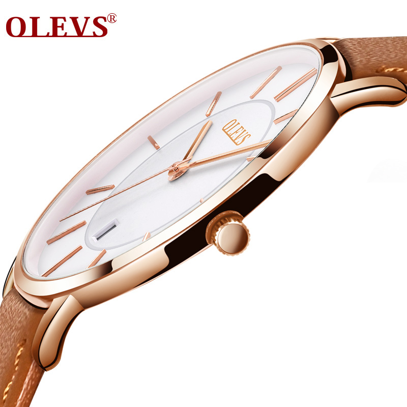 OLEVS Fashion Sport Mens Watches Rose Top Brand Luxury Quartz Watch Reloj Hombre 2018 Quartz Clock Male Hour Relogio Masculino olevs fashion mens sport watches auto date rose gold leather quartz watch reloj hombre 2017 male clock hour relogio masculino