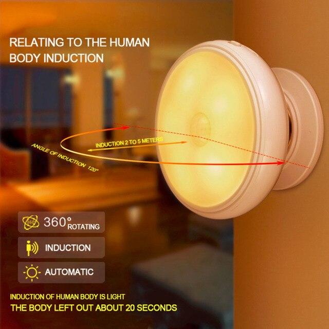 Kreative Niedrigen Stromverbrauch 360 Grad Umdrehung Nacht Licht Super  Helle Hause Schlafzimmer Wohnzimmer Led