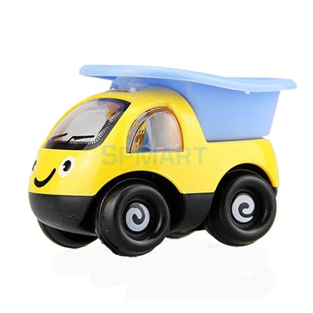 cartoon pull back construction vehicle truck lorry car kids toy in