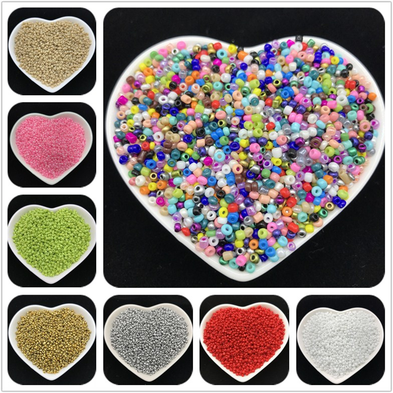 1000pcs 2mm Charm Czech Glass Seed Beads Diy Bracelet Necklace For Jewelry Making Diy Earring Necklace Cross Stitch Accessories Activating Blood Circulation And Strengthening Sinews And Bones