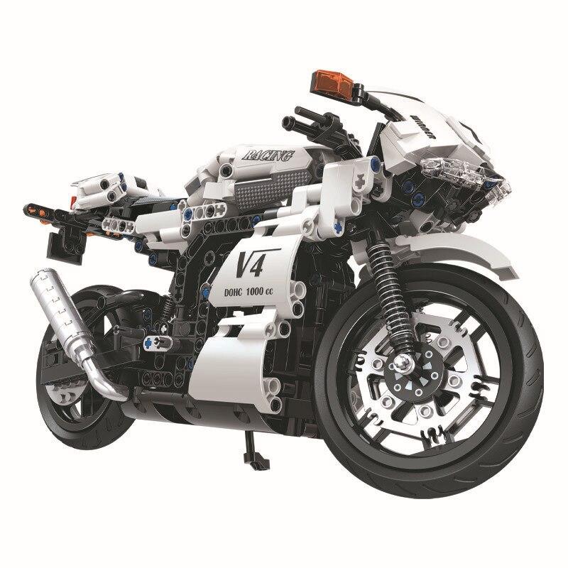 New motorcycle design Plastic building blocks 12 15 Years Unisex popular toy