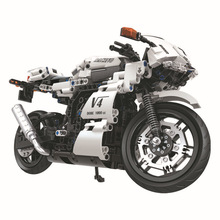 New motorcycle design Plastic building blocks 12-15 Years Unisex popular toy