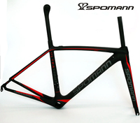 SPOMANN ultralight 750g carbon road bike frame 700C UD matte bicycle racing frame with seatpost fork headset cycling bike parts