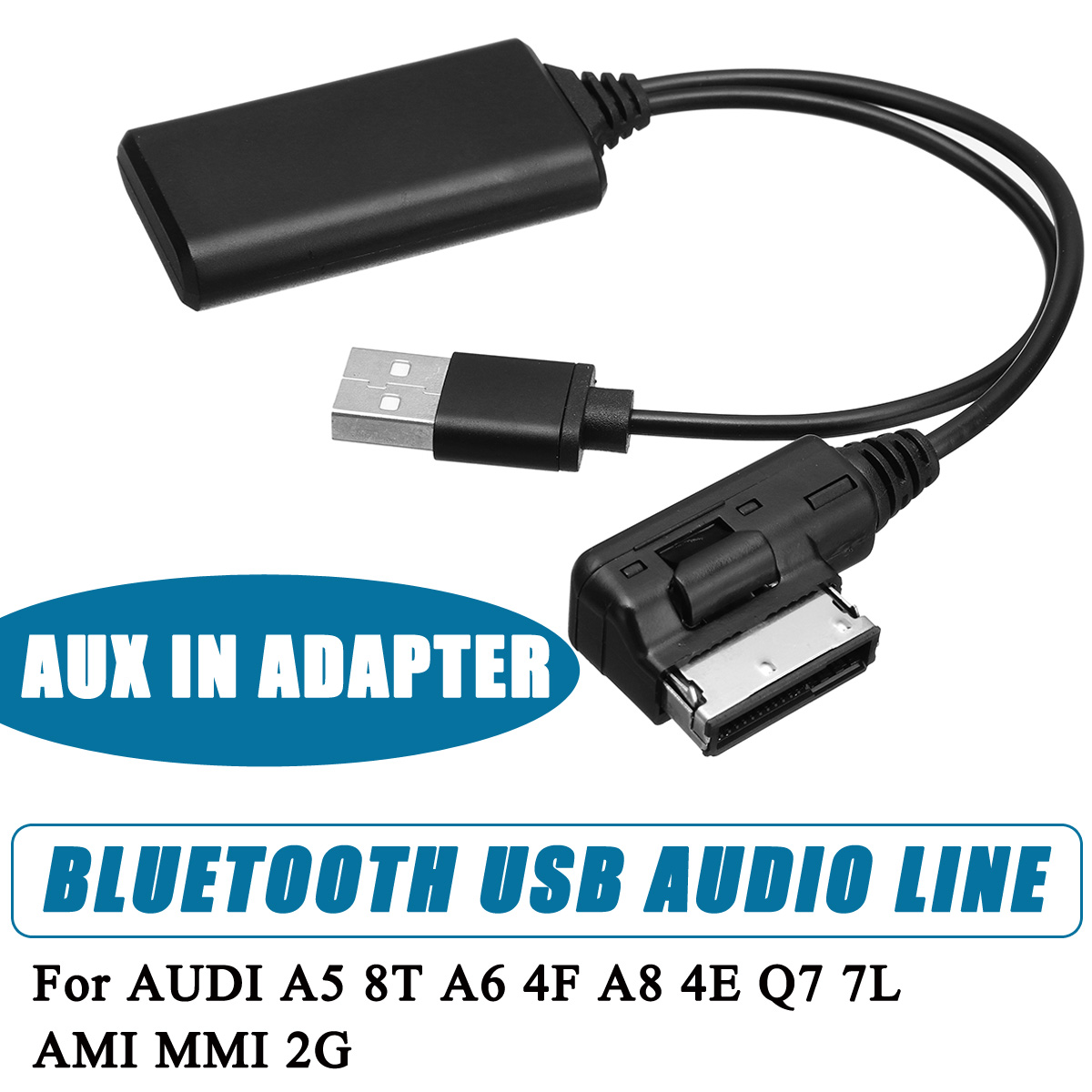 Wireless Bluetooth Adapter Cable For Audi And Volkswagen: Mini Wireless Bluetooth USB AUX In Adapter Cable Music
