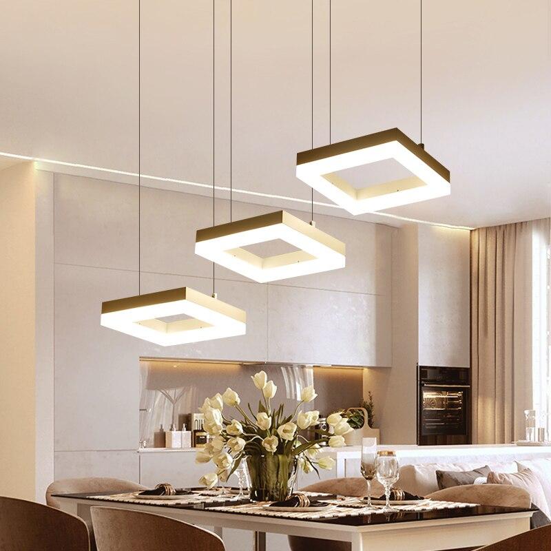 Minimalism Modern LED Pendant Lights For Dining Kitchen Room Bar AC85-265V Aluminum Hanging Pendant Lamp Fixtures цена