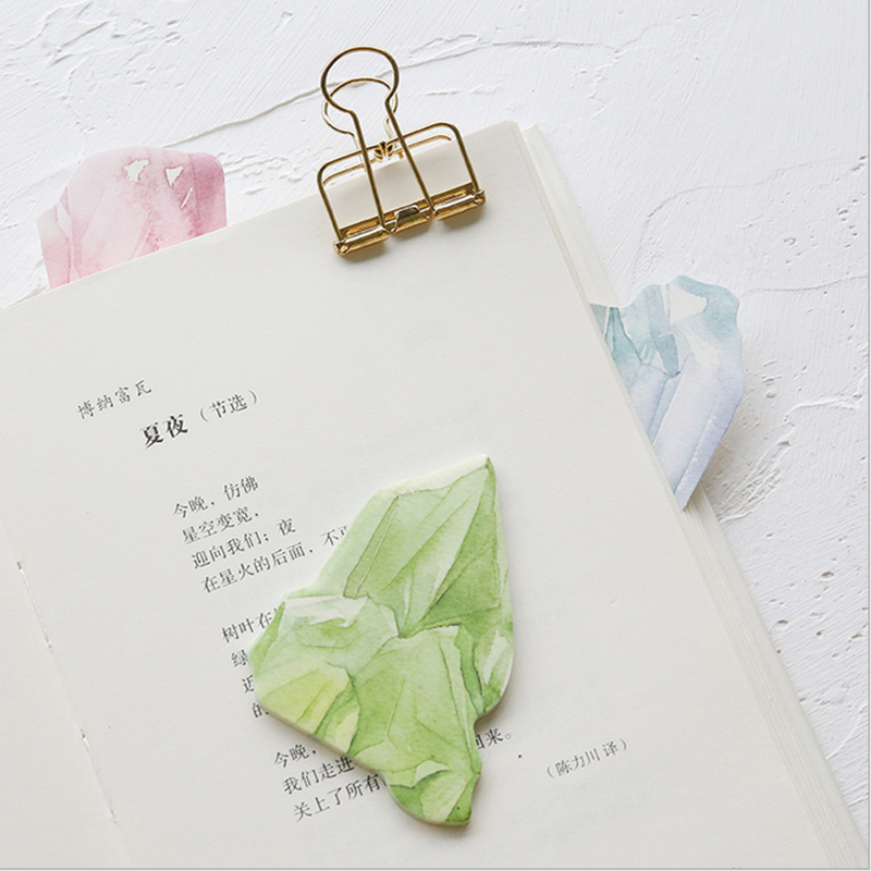 1X kawaii Creative diamond crystal Sticky Notes Post Memo Pad lovely School office stationery Supplies Planner Stickers Paper