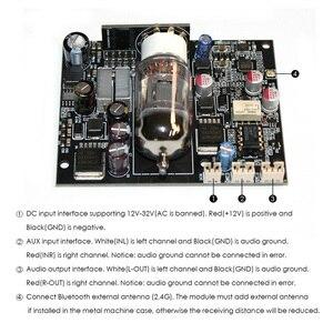 Image 5 - DYKB 12AU7 Tube CSR8675 Bluetooth 5.0 Audio Receiver Board ES9018 decoder DAC 12s signal APTX AUX for 12v 24v car Amplifier