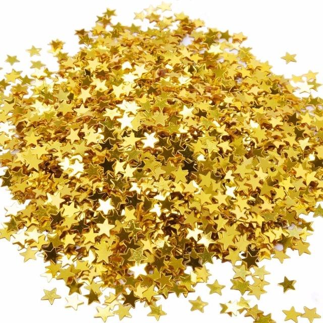 500gpack star confetti golden star table confetti metallic foil 500gpack star confetti golden star table confetti metallic foil stars sequin for party wedding junglespirit Image collections