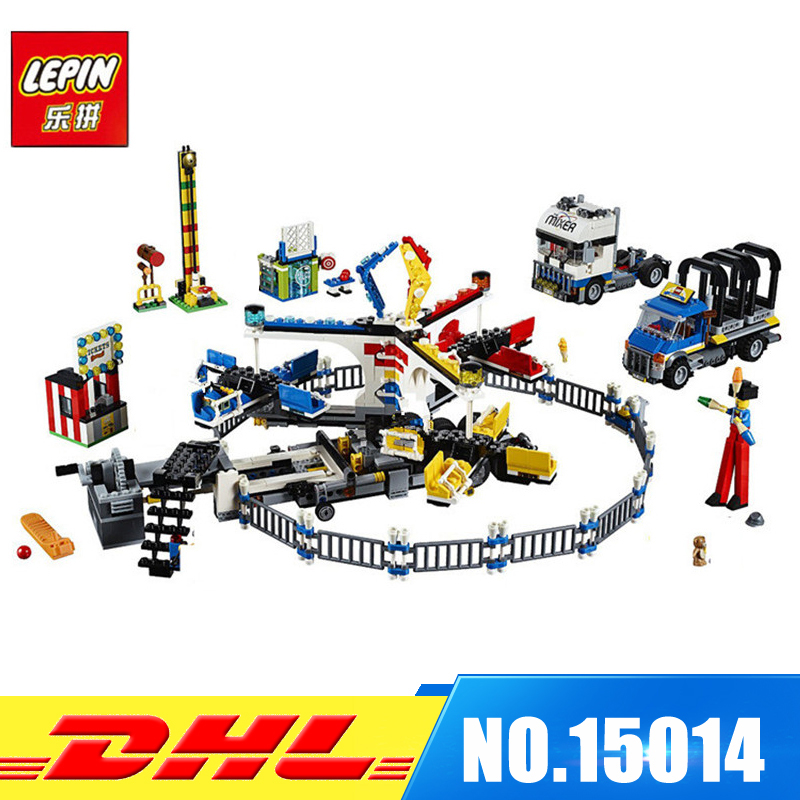 DHL Fit For 10244 LEPIN 15014 1858pcs Amusement Park The Carnival Educational Model Kits Building Blocks Bricks Gift Toy MOC lepin 15014 1858pcs amusement park carnival model building kits blocks bricks creator legoinglys 10244 architecture toys gift