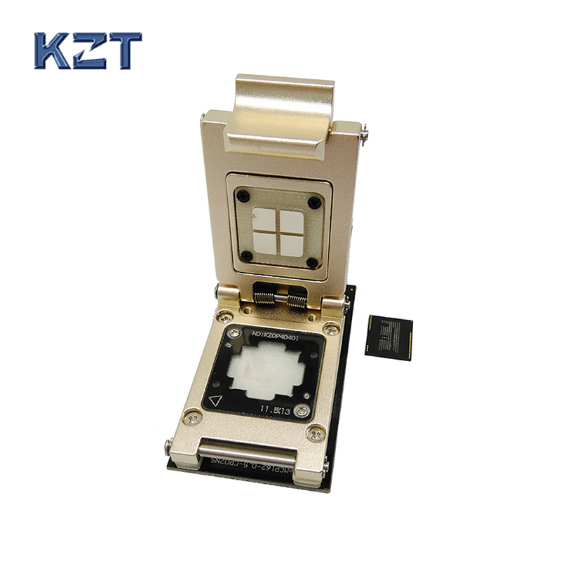 eMCP Reader Pogo Pin test Socket with SD interface,Nand flash BGA186 BGA162 size 12x16 Pitch 0.5mm aluminium alloy clamshell emcp socket with sd interface for bga 221 testing size 11 5x13mm nand flash programmer clamshell structure