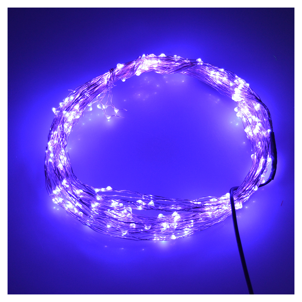 LED String Light Copper Wire Bedroom LED Fairy Starry Lights for Garden Path Xmas Christmas Tree Decora(20 LEDs, Purple, 7FT)