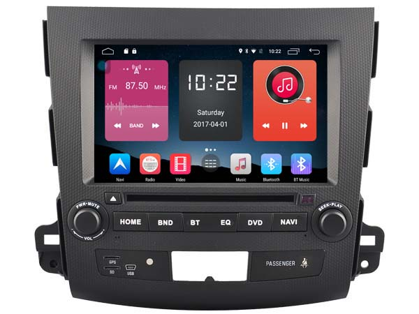 Android 6.0 CAR DVD FOR MITSUBISHI OUTLANDER / Peugeot 4007 car audio gps player stereo head unit Multimedia build in 4G <font><b>module</b></font>