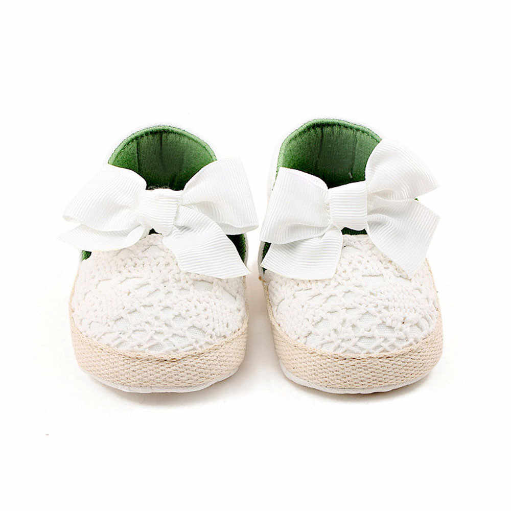 LONSANT/сандалии для малышей хлопковые Слипоны для девочек на мягкой подошве, детский пинетки для младенцев, летние кружевные сандалии с бантом для малышей кроссовки для девочек