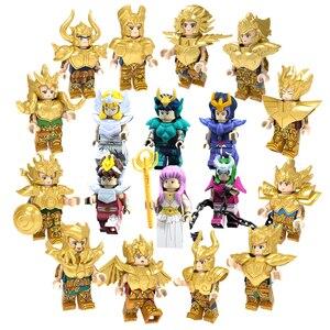 Image 1 - Saint Seiya Gold Saint Athena Shiryu ледник японского аниме Созвездие фигурки Кирпичи Блоки Игрушки совместимы с Lego