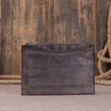 2016 Handmade Genuine Leather Women Hand Bag Personality Vintage Style Envelope Real Cowhide Day Clutch