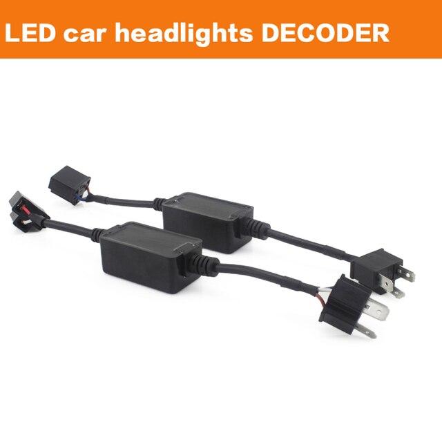 2 unids H4 H7 H8 H9 H11 HB3 HB4 LED Luz de Niebla Xenon HID Bombilla de La Lámpara DRL Decoder Resistencia Canbus Adaptador De Arnés de cableado