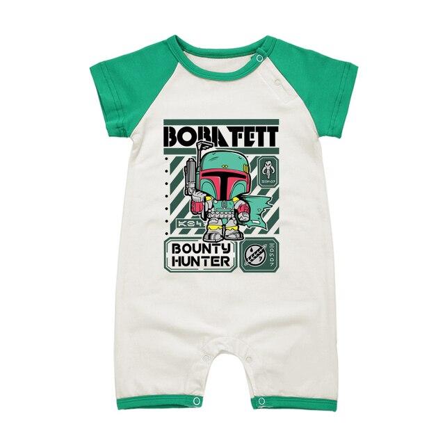 Mode-Design am besten billig Infos für US $9.49  Sommer Baby Strampler Jungen Kleidung Set Star Wars Boba fett  Baumwolle Baby Kleidung 0 18 Mt Neugeborenen Strampler Kurzarm Overalls in  ...