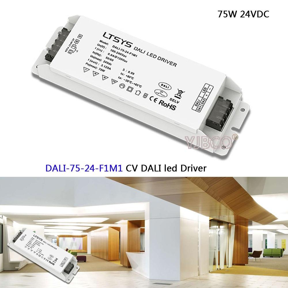 LTECH CV DALI Dimming Driver;DALI-75-24-F1M1;AC100-240V input;24V/3.1A/72W output DALI/PUSH DIM led power dali 16 1 7б