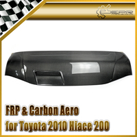 Car Accessories For Toyota 2010 Hiace 200 Carbon Fiber Vented Hood Glossy Fibre Auto Bonnet Trim Racing Body Kit