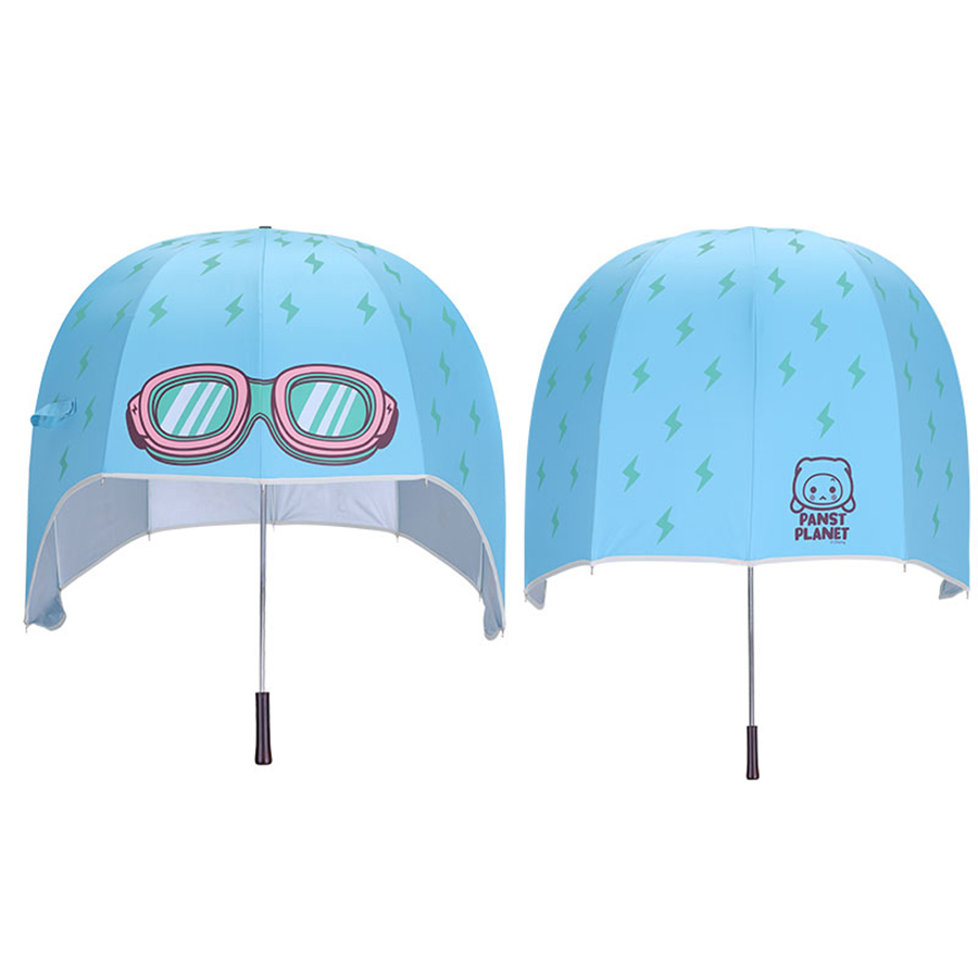 Long manche bleu adulte Parapluie pluie femmes tête Uv Parasol Cartoon paraguay Sol Sombrillas Parapluie Enfant pluie outils 80D0051