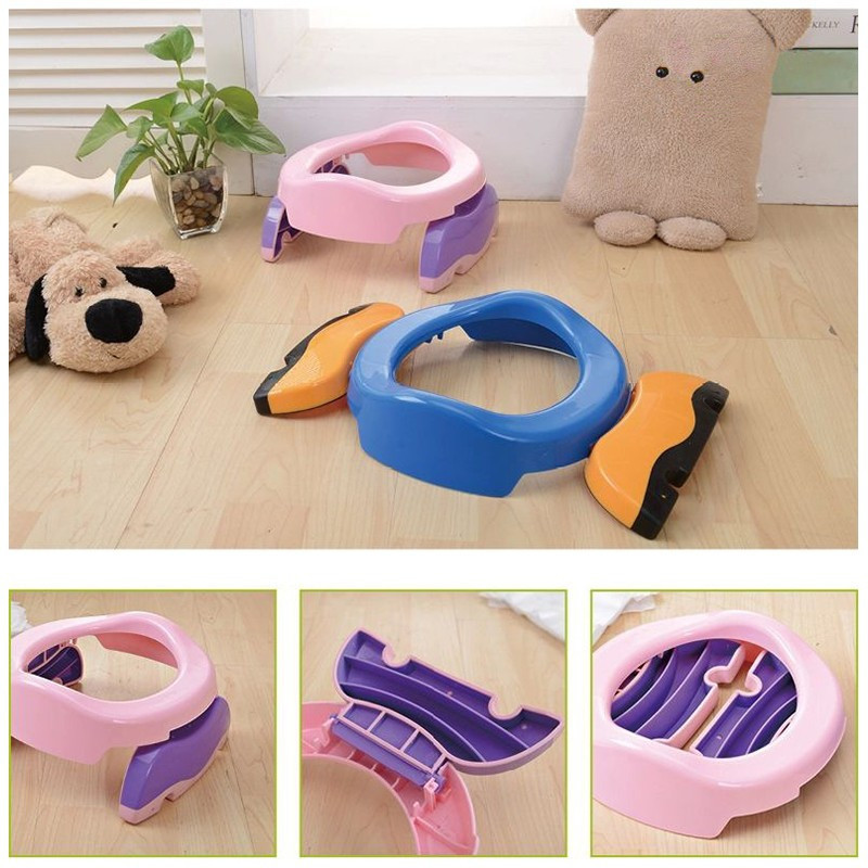 Baby Toilet Seat Trainer Portable Baby indoor Baby Travel Potty Rings with urine bag For Kids Blue Pink in Potties from Mother Kids